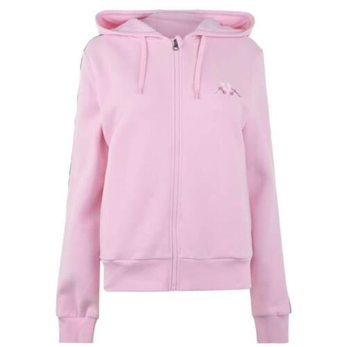 Kappa Zipped Hoodie Ladies Zip Hoody Hooded Top Full Length Sleeve Lightweight