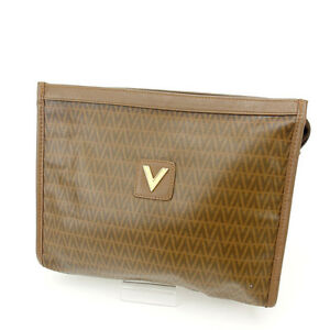 Valentino-Clutch-bag-Brown-Woman-Authentic-Used-D1037