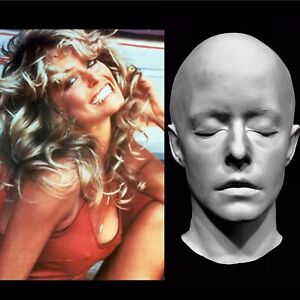 "Details about Farrah Fawcett Life Mask Face Cast ""Charlie's Angels"" Jill  Monroe  Very Rare !!!"