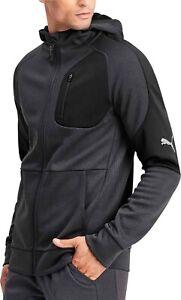 Puma-evoStripe-Warm-Full-Zip-Mens-Hoody-Grey-Stylish-Gym-Training-Workout-Hoodie