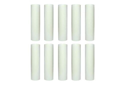 10 Kerzenhülsen E14 glatt  26x100 weiß Lampenhüllen für Kronleuchter Lüster NEU