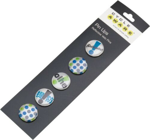 Cycle Aware Pin Ups Reflective Velo Pins Silver