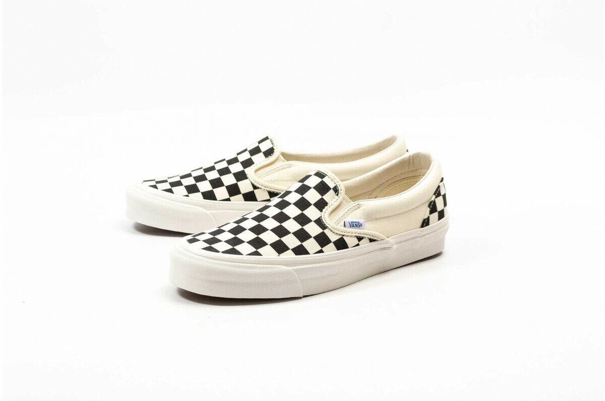 Vans Vault OG Classic Slip-on  LX Checkerboard White Black VN000UDFF8L EL