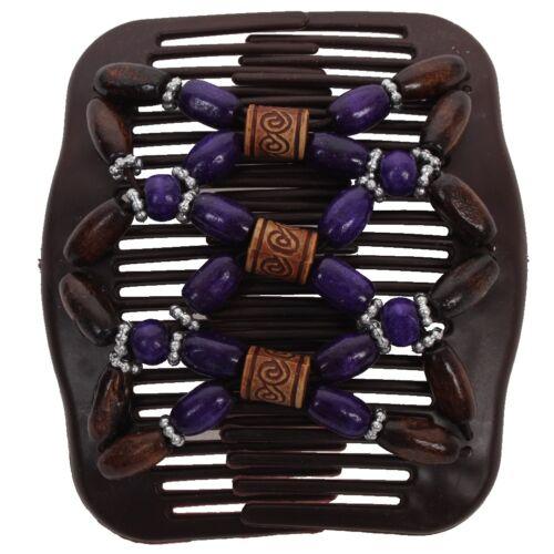 Trend African Hairclip Haarklammer Butterfly Haarkamm Holzdesign mit ornamenten