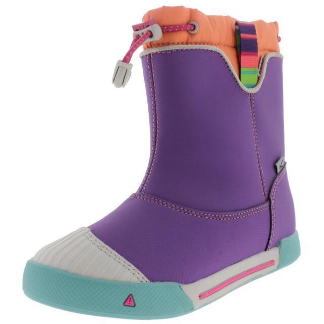 Keen 0640 Girls Encanto 365 Purple Leather Rain Boots Shoes 13 Medium (B,M) BHFO