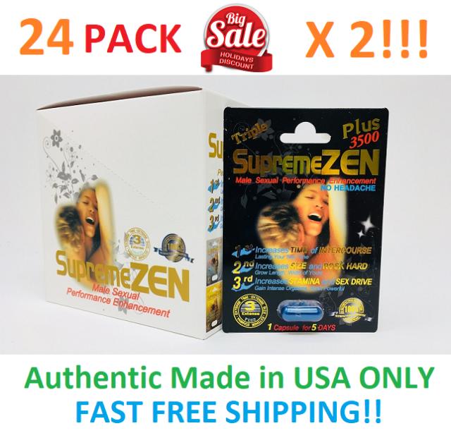 48x SupremeZen Plus 3500 Male Sexual Performance Enhancement Pill