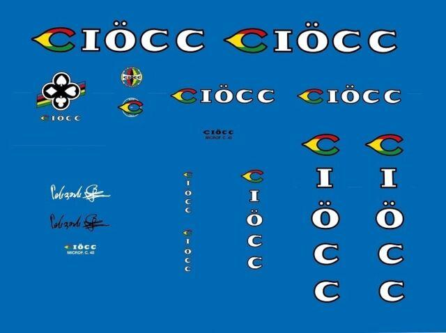 Ciöcc Set 2 Ciocc Decals Bicycle Transfers Stickers