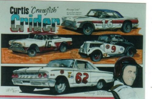 #62 Curtis Crider Globe Mercury 1963 1//25th 1//24th Scale Waterslide Decals