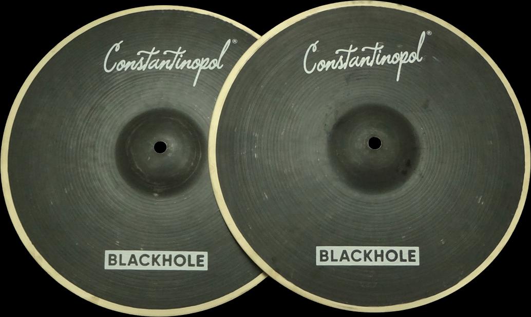Constantinopol schwarzHOLE HI-HAT 14  - B20 Bronze - Handmade Turkish Cymbals