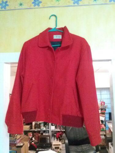 Vintage  Pendleton  Woolen Mills  Snap Button  Red
