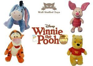 Winnie-The-Pooh-Piglet-Eeyore-Tigger-Plush-Soft-Toy-12-034-Official-Disney