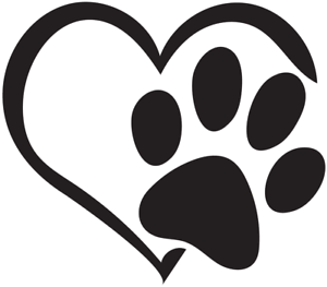 Download Love Heart Paw Print Decal Multicolor Made in USA   eBay