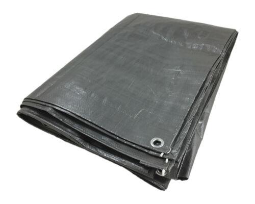 Fabric Cover Tarpaulin Cover Protective Tarpaulin 3 x 4 M Silver PE EUR 0,62//m2-eur 0,69//m2
