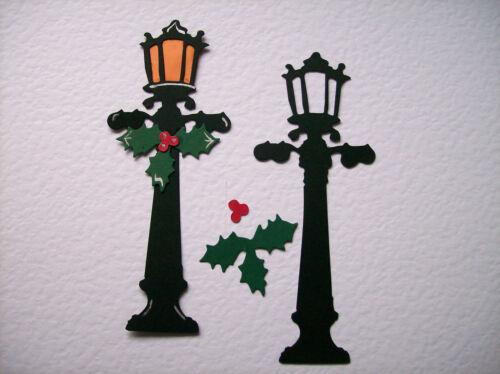 8 LARGE LAMPPOST /& HOLLY die cuts TIM HOLTZ christmas die cuts