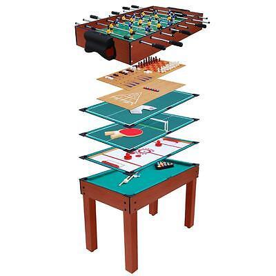 Kickertisch Tischfußball Spieletisch 9 in 1 Billardtisch Kicker Tisch Spieltisch
