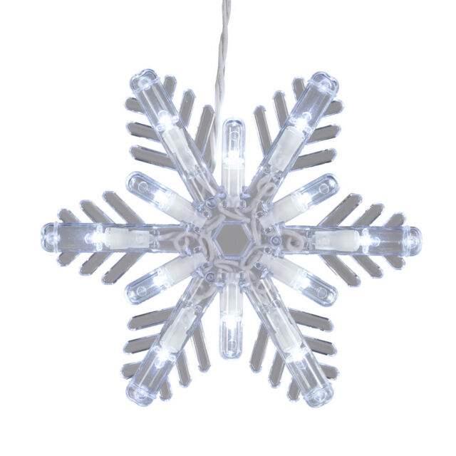 10ct Snowflake Glitter Silver String Lights Christmas Tree Lights Indoor//Outdoor