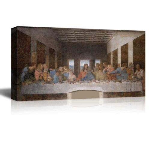 "18/""x36/"" Last Supper by Leonardo Da Vinci Giclee Canvas Prints"