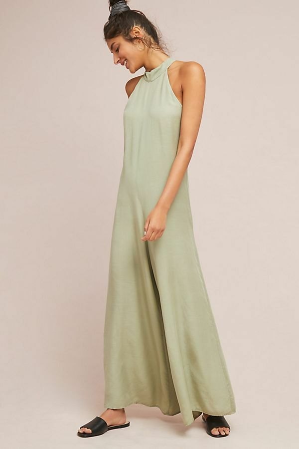 158 Anthropologie  Cloth & Stone Marfa Jumpsuit  XL new moss color