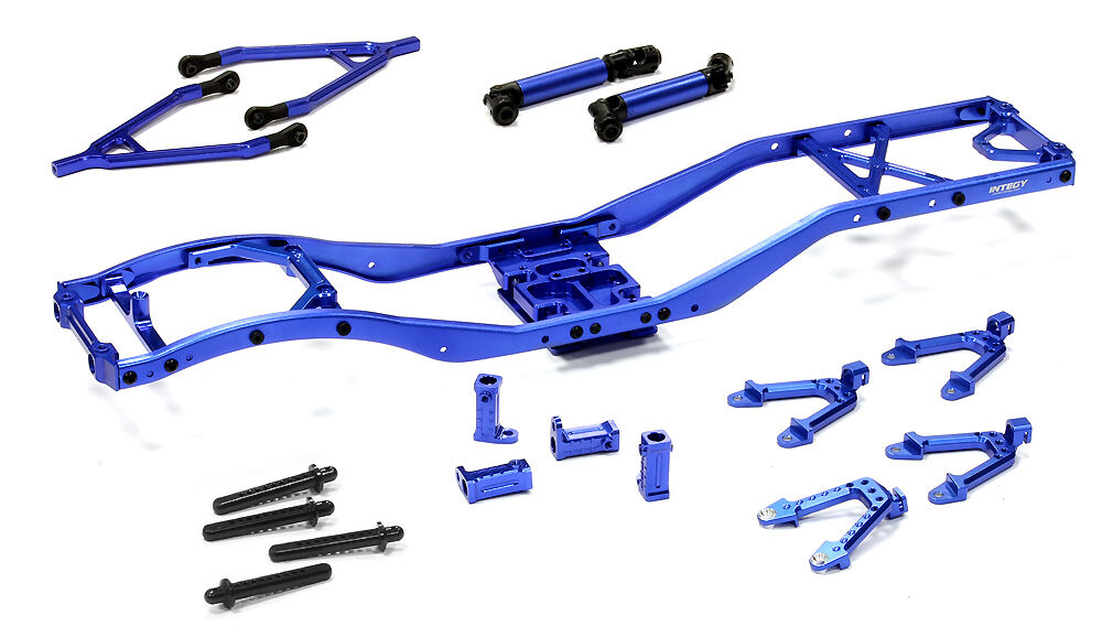 C24856blueE  Ladder Frame Chassis Kit w Hop-up Combo for SCX-10 Dingo,Honcho,Jeep