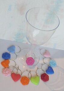 Porte-Noms-Nom-Marque-place-verre-x-12-Decoration-Table-Breloques-Fimo