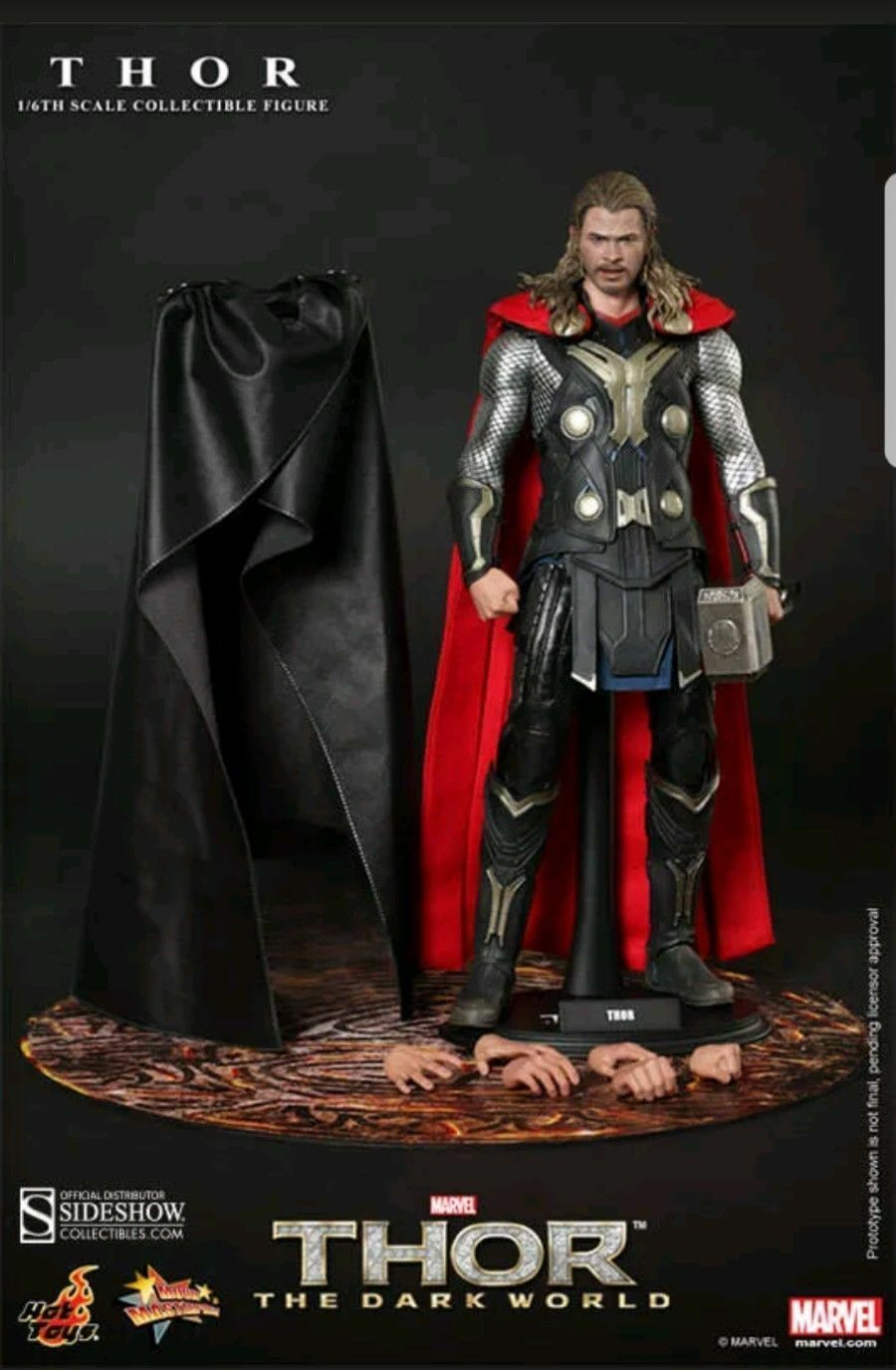 Sideshow Hot Toys 12  1 6 Thor Chris Hemsworth The Dark World Figure