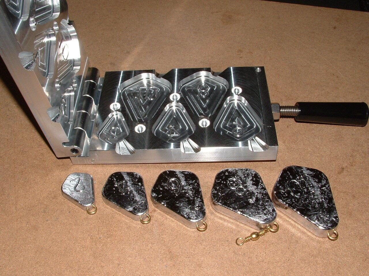 Saltwater No Roll Sinker mold 2,4,6,8,10oz CNC Aluminum Freshwater Catfish