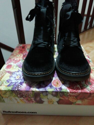 41 59 Zip Laceup Velvet Rrp Size Uk Side Black Refresh Feel Boots 95 8 Ankle qHzxOw