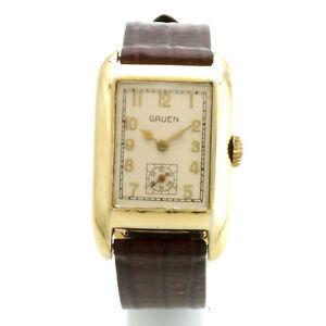vintage 17 jewel gruen wrist watch ca1960s. Black Bedroom Furniture Sets. Home Design Ideas