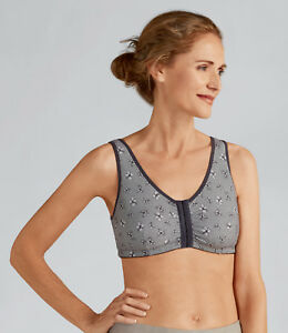 e4a7d95c1 Amoena  Frances  Soft Cup Front Fastening Post Surgical Bra - Grey ...