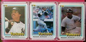 1981-Donruss-REGGIE-JACKSON-3-Card-Lot-New-York-Yankees-HOF-NM-MT-NICE-LOT