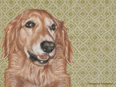 pet gift Golden retriever gift dog gift golden cheese plate golden trivet Golden Retriever Glass Cutting board
