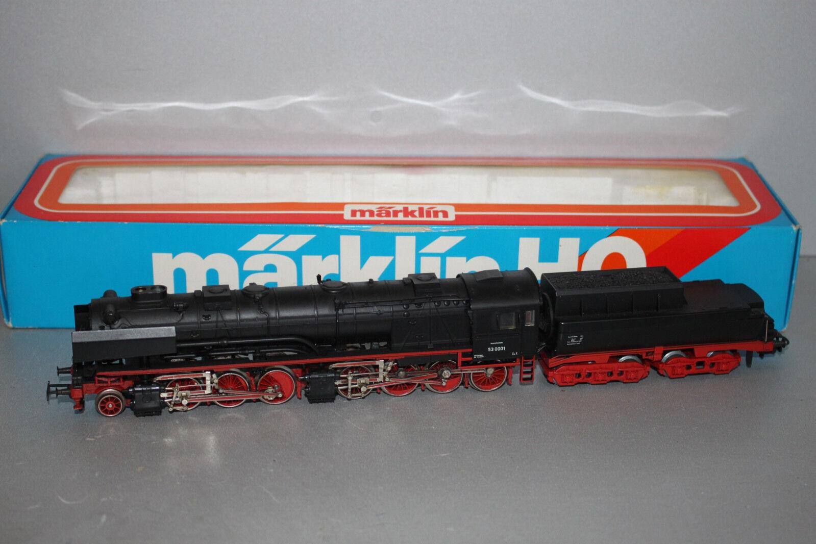 Märklin 3102 máquina de vapor serie 53 0001 DB Mallet humo frase pista h0 OVP