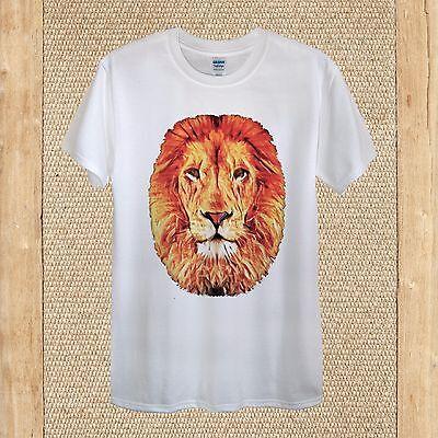 Lion Colourful Vectors Wildlife T-shirt Design King Animal Cotton unisex women
