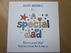 Personalised Handmade Birthday Card Dad 40th 50th 60th 70th