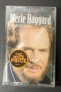 Merle Haggard Super Hits (Cassette Tape, 1993, Sony Music) Brand New!