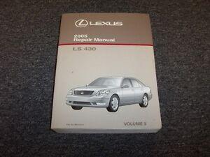2005 lexus ls430 sedan workshop shop service repair manual book vol3 rh ebay com Lexus Manuals Shop 94 Lexus ES300 Service Manual