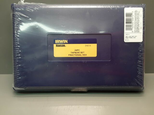 New Irwin Hanson Tap 24 Pc Set 24614 Fractional Hex Sae Usa