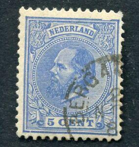 Nederland nvph 19 met kleinrond HPK BERGAMBACHT en plaatfout 19PM