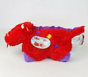 Pillow-Pets-Pee-Wee-Fiery-Dragon-11-034-Red-Purple-Polyester-Stuffed-Animal-Toy
