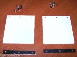 White-Mud-Flaps-to-Suit-Tamiya-1-14-RC-Trucks-Trailers-Hauler-Aeromax