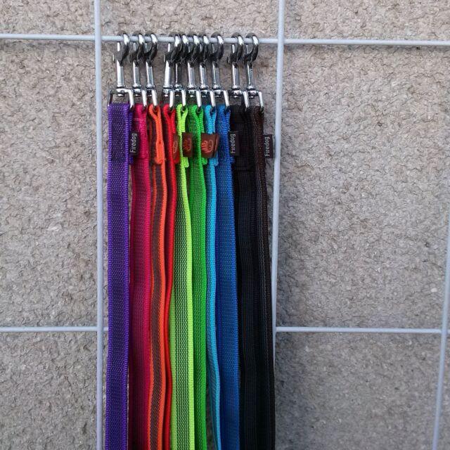 Firedog gummierte Leine, Nylonleine  Grip,  Handschlaufe,  20 mm breit
