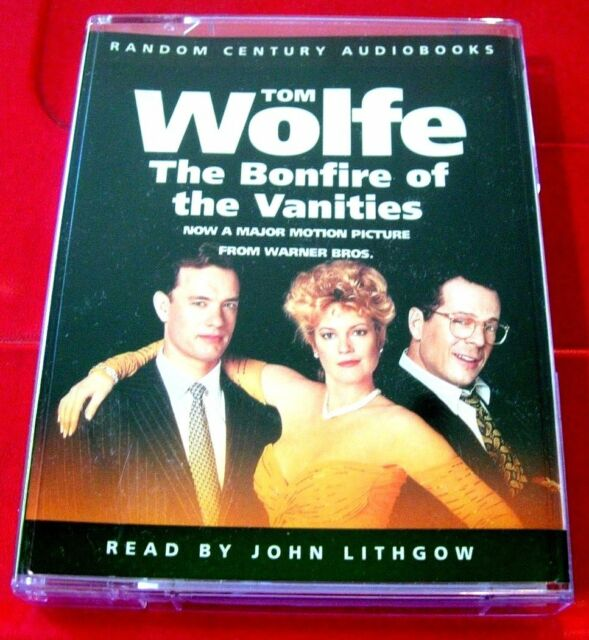 Tom Wolfe Bonfire Of The Vanities 2-Tape Audio Book John Lithgow Satire