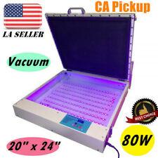 Pick Up 110v 20 X 24 Vacuum Led Uv Exposure Unit 80w Precise Screen Printing