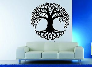 Image Is Loading Wall Decor Vinyl Sticker Decal Celtic Tree Life