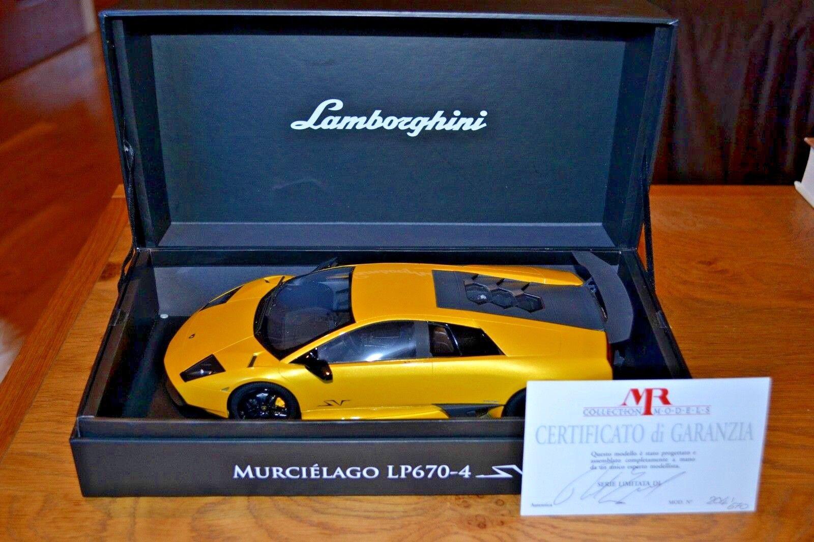 La passion illumine Noël, tous les bons cadeaux cadeaux cadeaux sont en Irak. 1/18 MR COLLECTION MODELS Lamborghini Murcielago LP670-4 SV avec certificat | Elaborer  | 2019  2f6f8e