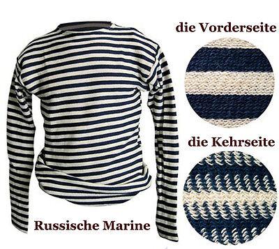 Russian Striped T-shirt Navy Telnjaschka 100% Cotton Military Marine Navy Ussr Offensichtlicher Effekt Sammeln & Seltenes