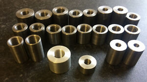 "Ready to weld Threaded Mild Steel Insert / Mount M6 < > M14 3/8"" < > 7/16"" UNF"
