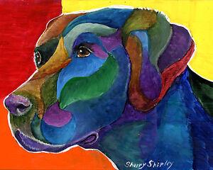Labrador-Retriever-8X10-DOG-Print-from-Artist-Sherry-Shipley