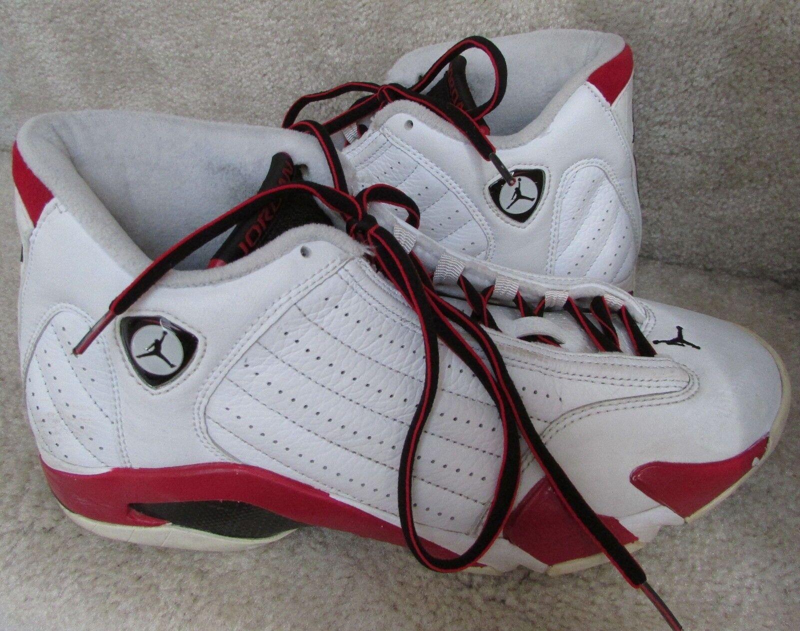 Nike air jordan 14 xiv retrò 2006 dimensioni stile 311832-101 euc candy cane