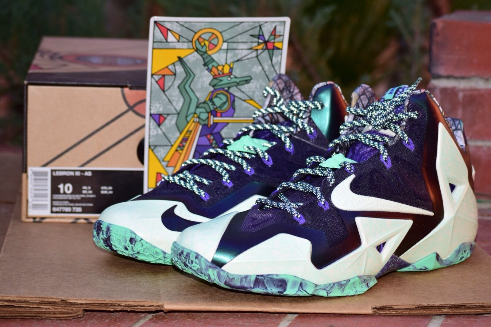 DS 2014 Nike LeBron xi 11 Gumbo All Star Size 13
